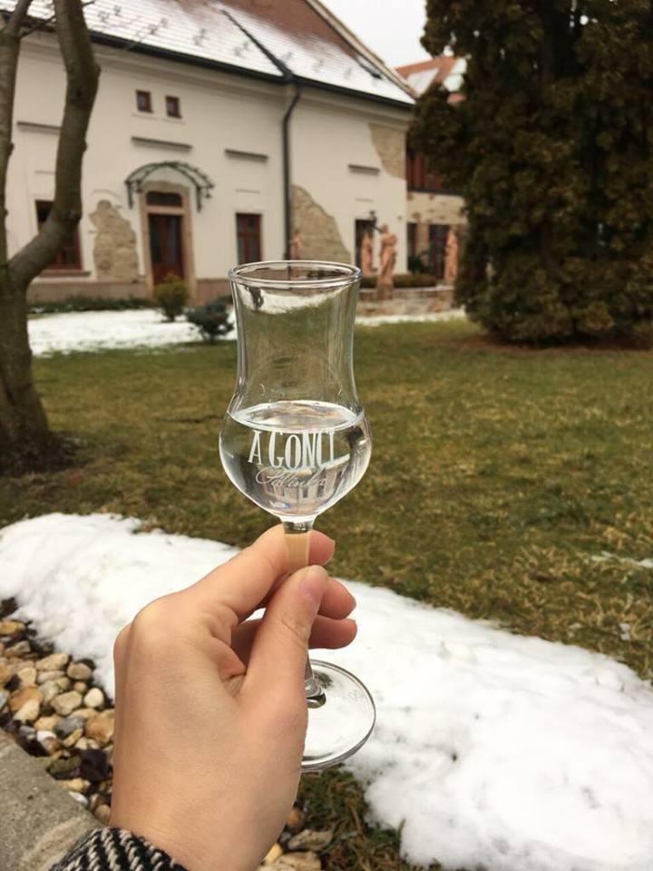 A Gönci Pálinka fotózása a Vécsecityben téli hangulatban