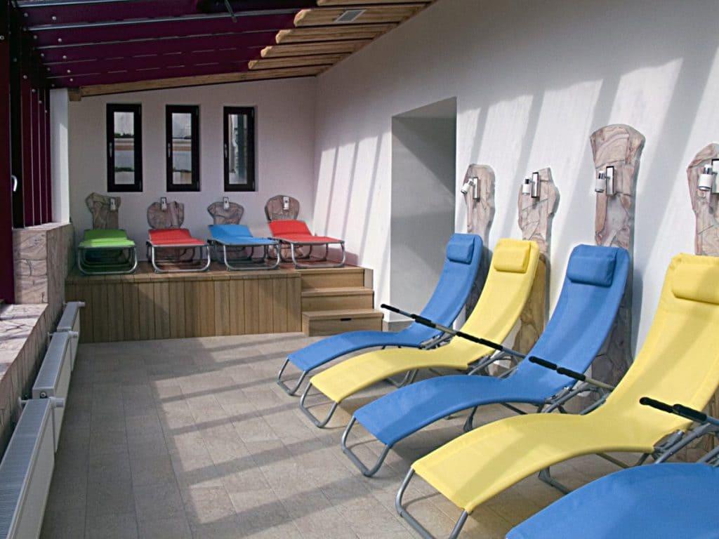 Wellness napozó teraszunk télen-nyáron használható