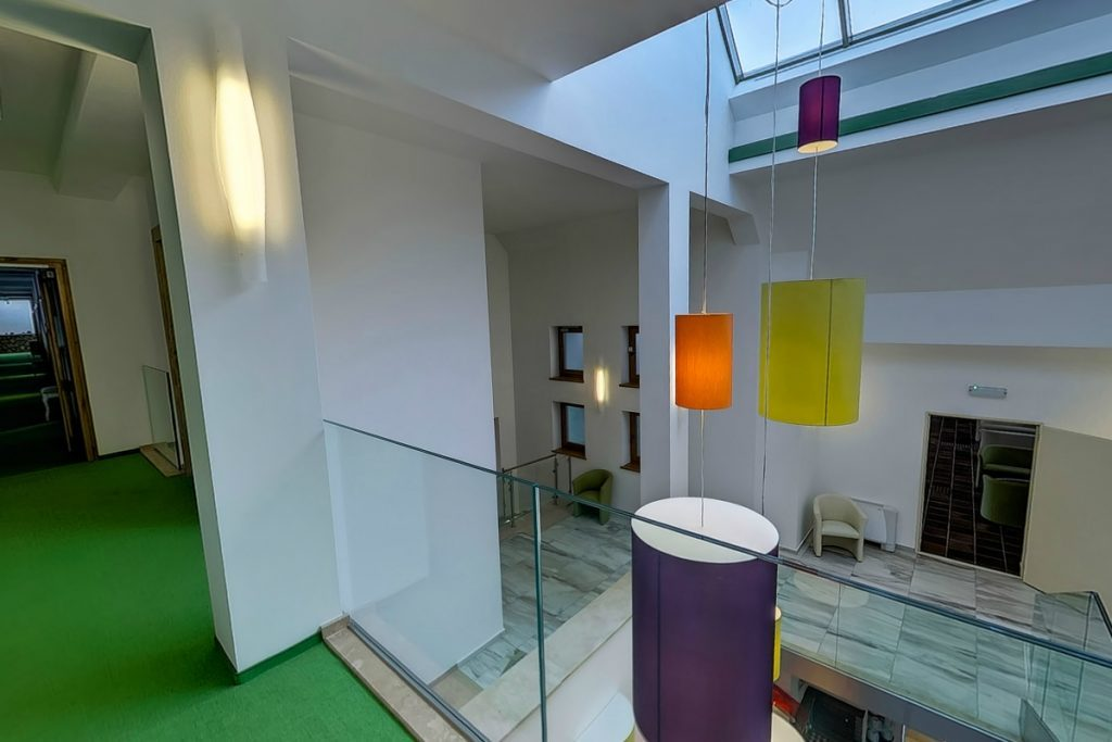 Zöld ház 2. emelet folyosó és közösségi terek